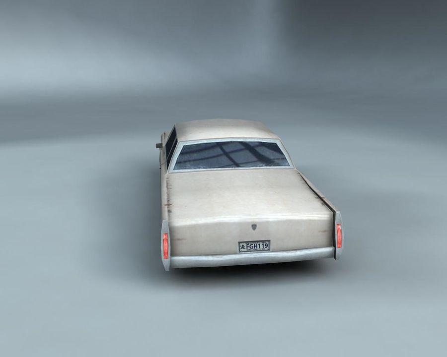 1970-talets Sedan Car royalty-free 3d model - Preview no. 5