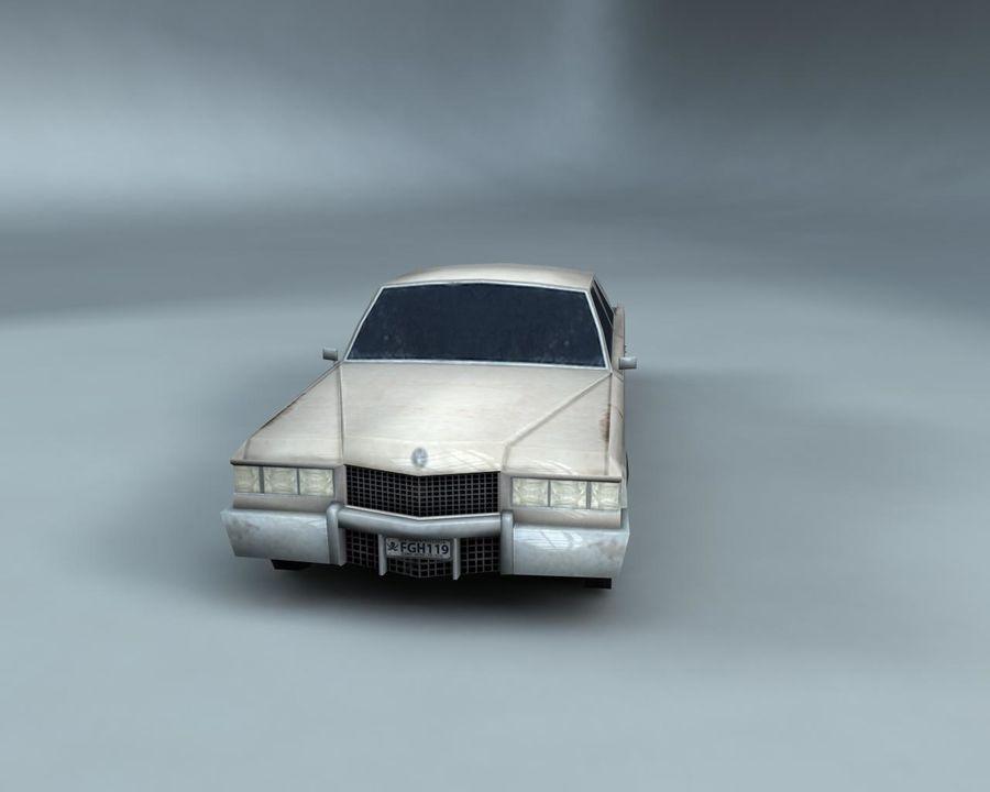 1970-talets Sedan Car royalty-free 3d model - Preview no. 8