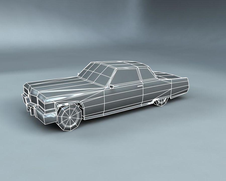 1970-talets Sedan Car royalty-free 3d model - Preview no. 17