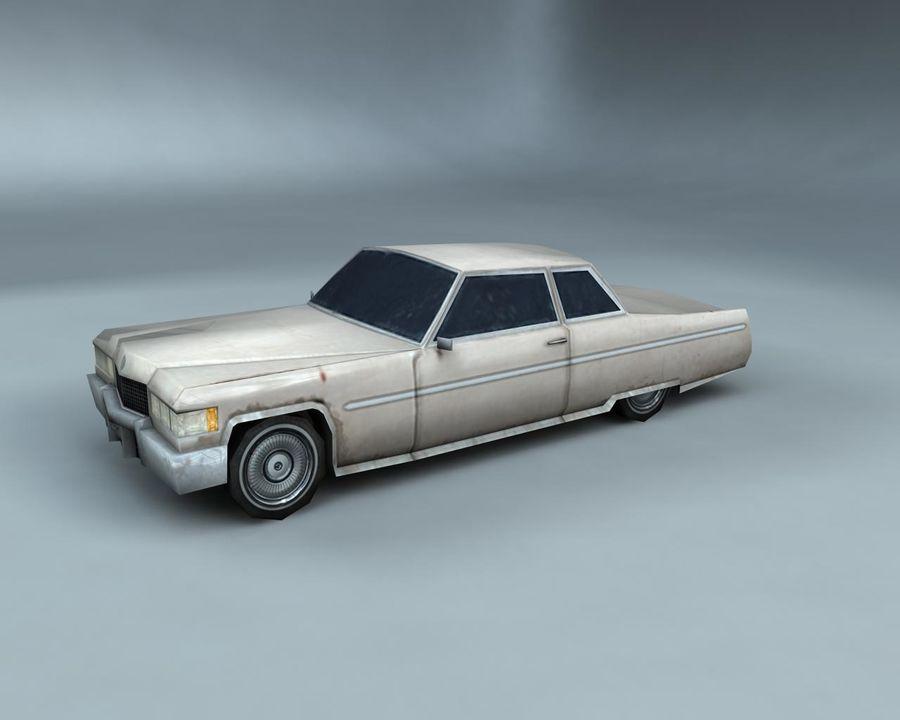 1970-talets Sedan Car royalty-free 3d model - Preview no. 7