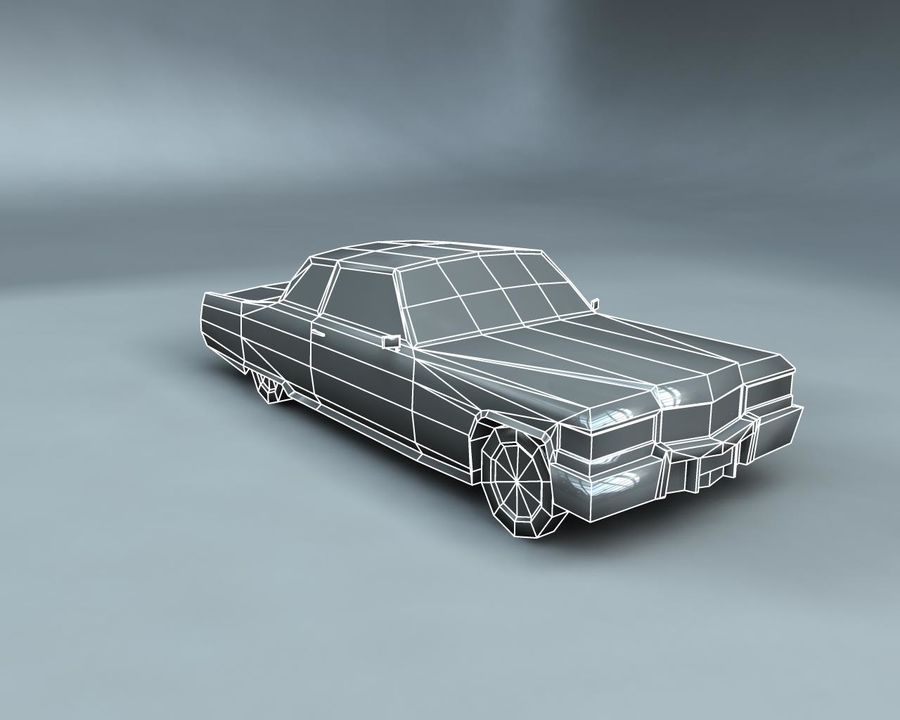 1970-talets Sedan Car royalty-free 3d model - Preview no. 11