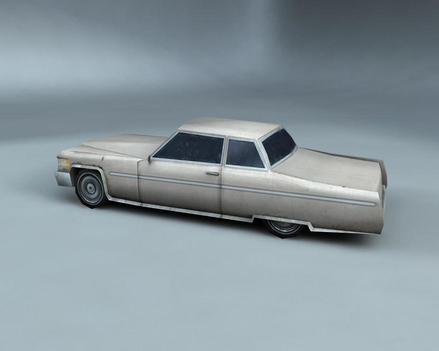 1970-talets Sedan Car royalty-free 3d model - Preview no. 6