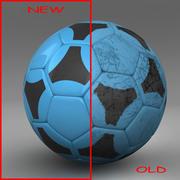 Soccerball bleu noir 3d model
