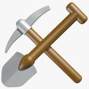 Shovel and Pick Axe 3d model