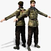 Второй Партизанский 3D персонаж 3d model