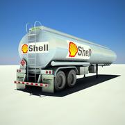 Tanker trailer Shell 3d model
