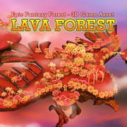Fantasy Lava Forest 3d model