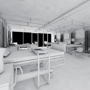sala de hospital modelo 3d