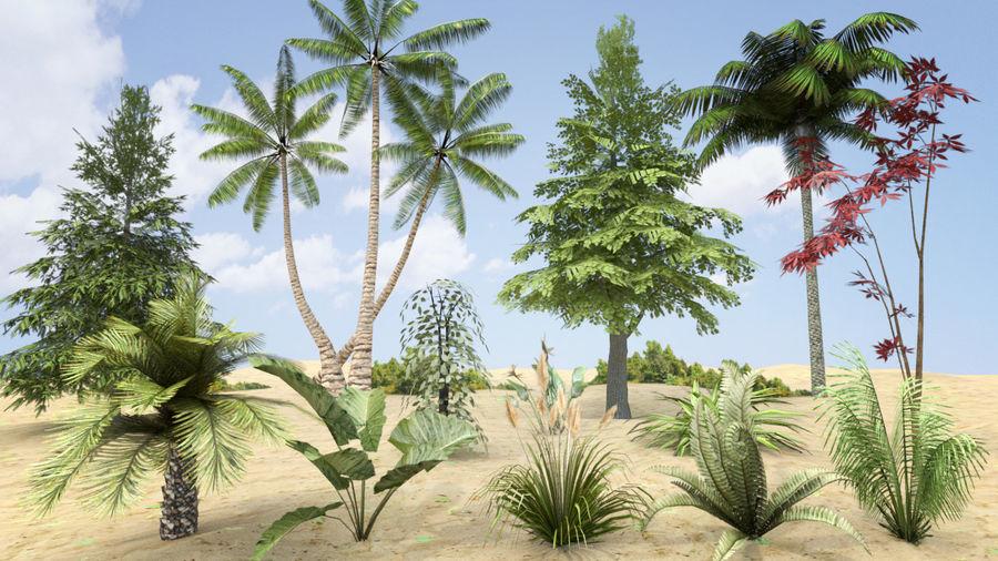 식물 잔디와 나무 팩 royalty-free 3d model - Preview no. 1