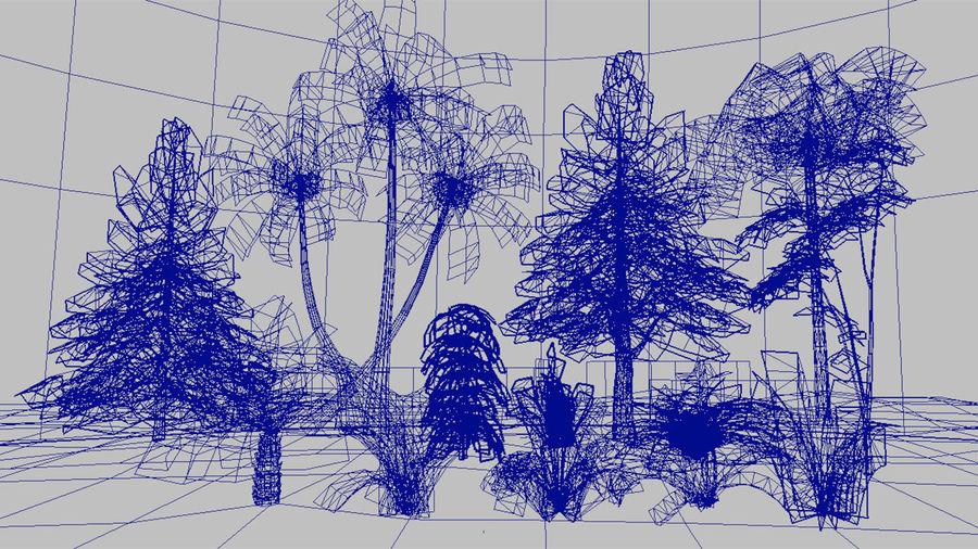 식물 잔디와 나무 팩 royalty-free 3d model - Preview no. 5
