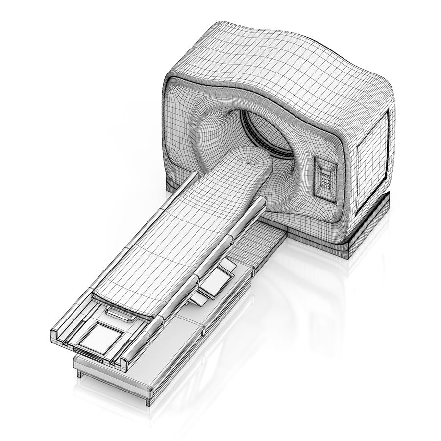 MRI-scanner royalty-free 3d model - Preview no. 8