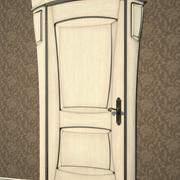 Tür Jugendstil 3d model