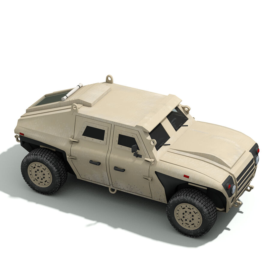 FED Alpha Armored Vehicle royalty-free 3d model - Preview no. 13