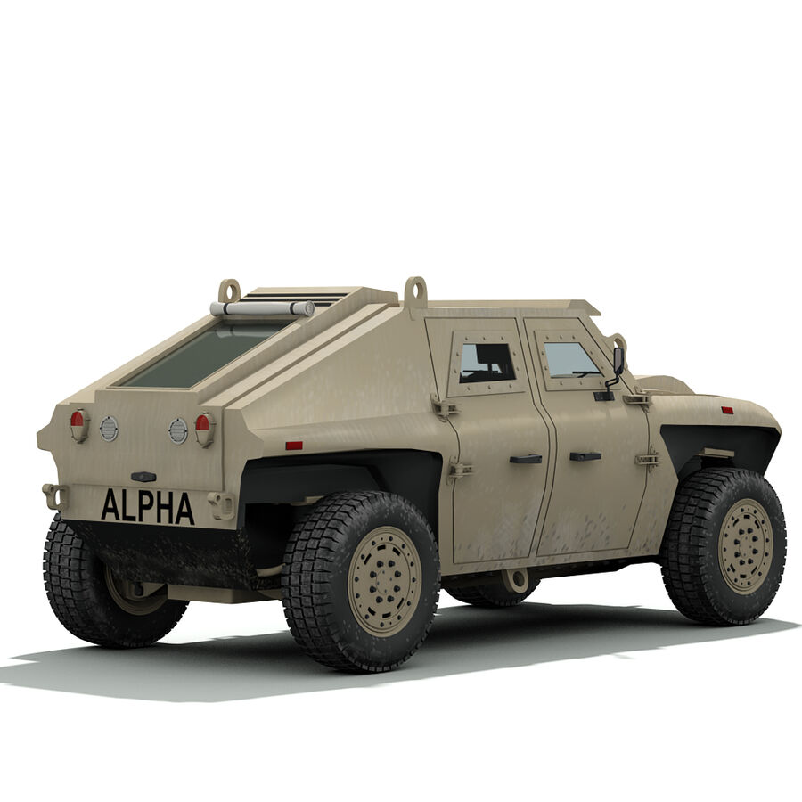 FED Alpha Armored Vehicle royalty-free 3d model - Preview no. 10