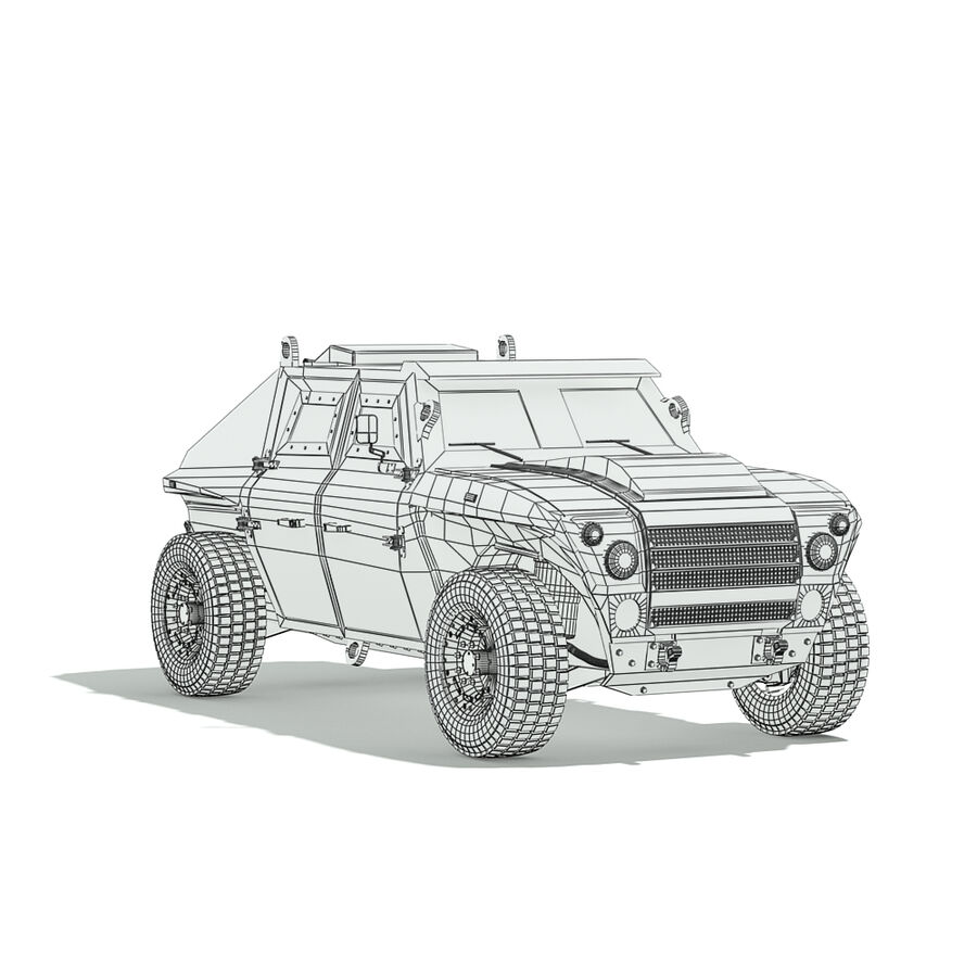 FED Alpha Armored Vehicle royalty-free 3d model - Preview no. 14