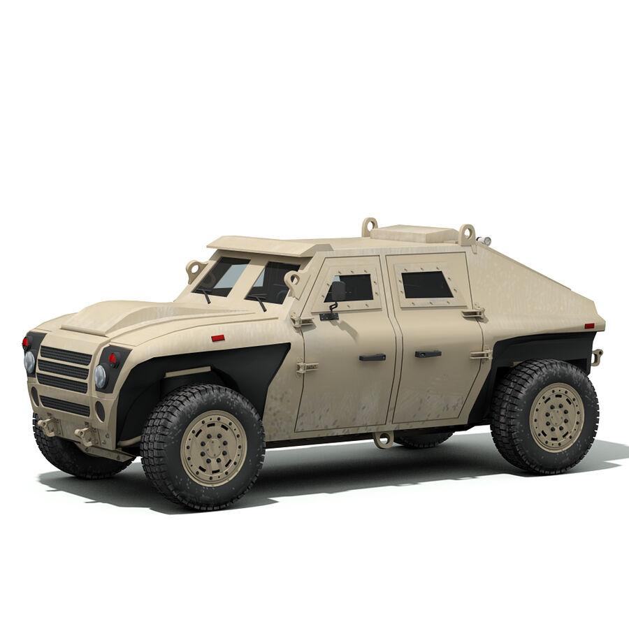 FED Alpha Armored Vehicle royalty-free 3d model - Preview no. 6