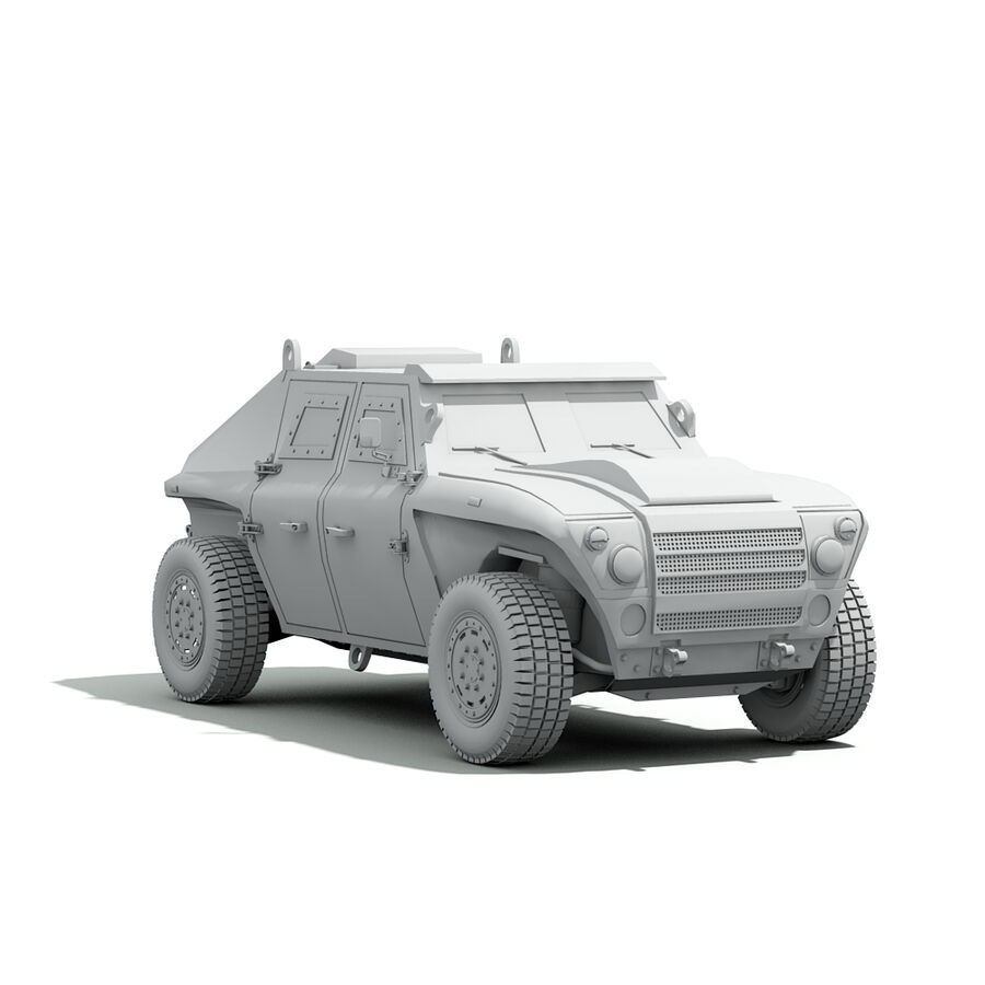 FED Alpha Armored Vehicle royalty-free 3d model - Preview no. 16