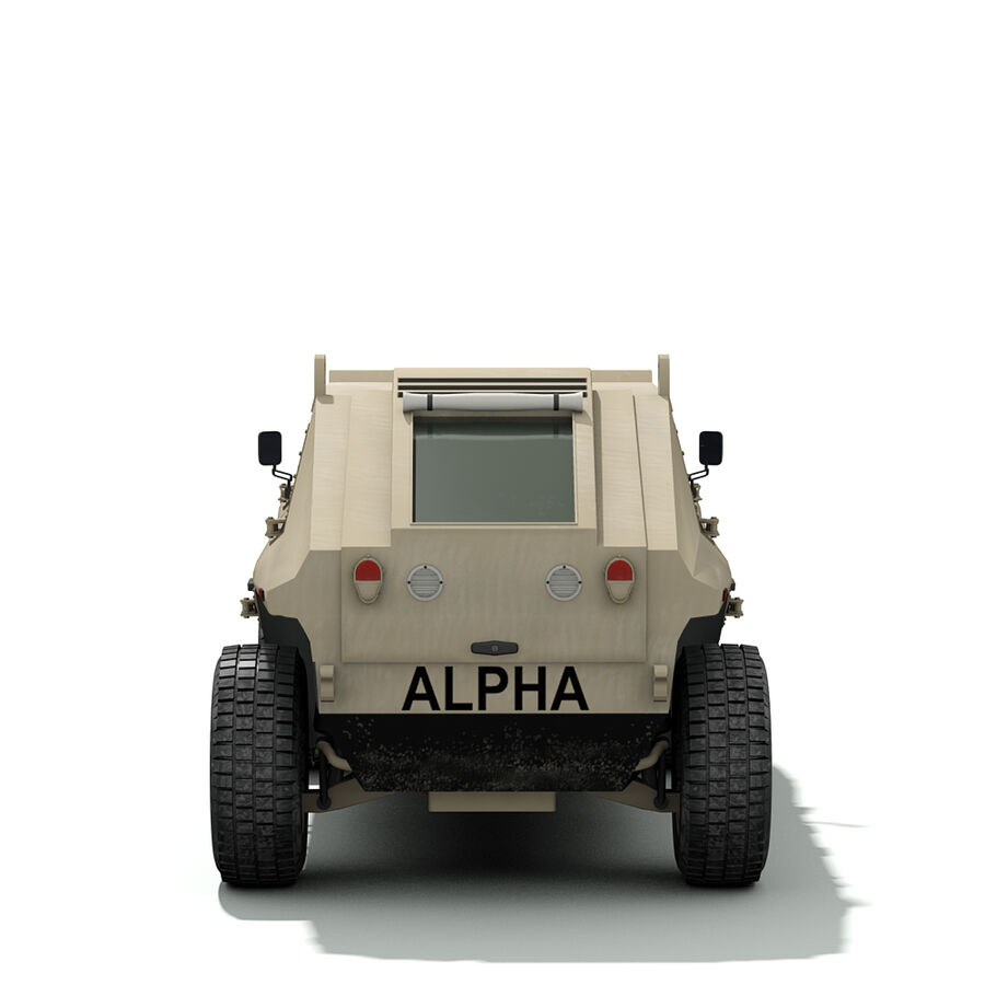 FED Alpha Armored Vehicle royalty-free 3d model - Preview no. 9