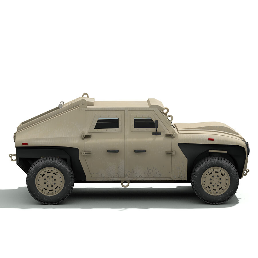 FED Alpha Armored Vehicle royalty-free 3d model - Preview no. 11