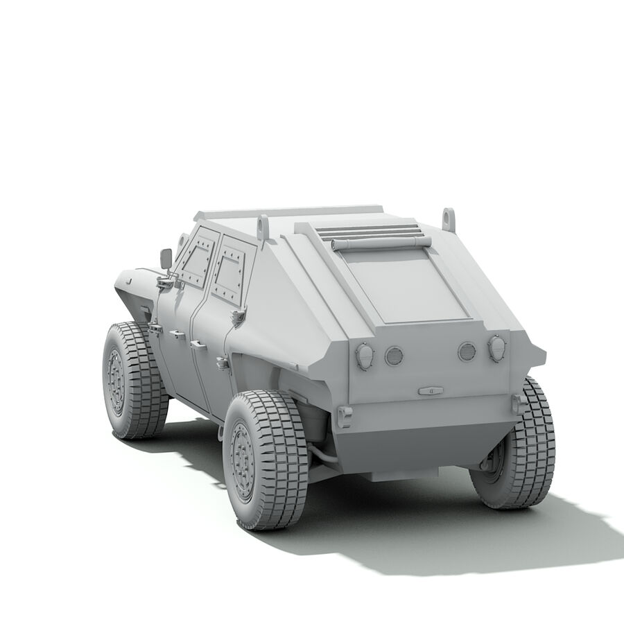 FED Alpha Armored Vehicle royalty-free 3d model - Preview no. 17