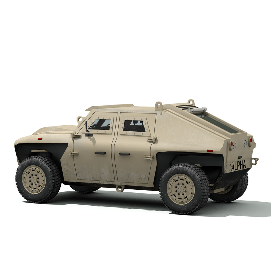 FED Alpha Armored Vehicle royalty-free 3d model - Preview no. 7