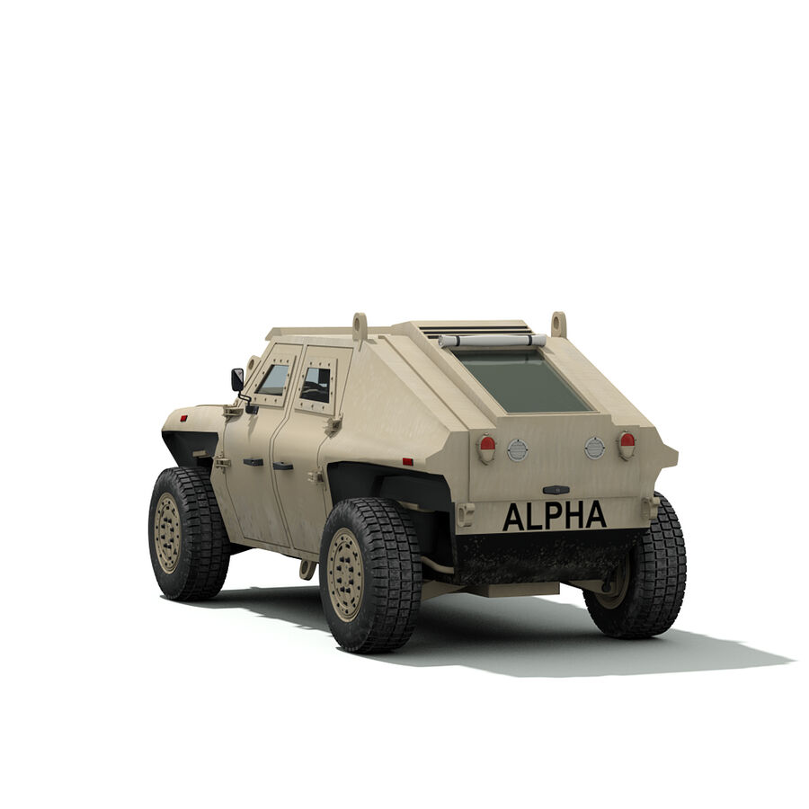 FED Alpha Armored Vehicle royalty-free 3d model - Preview no. 8