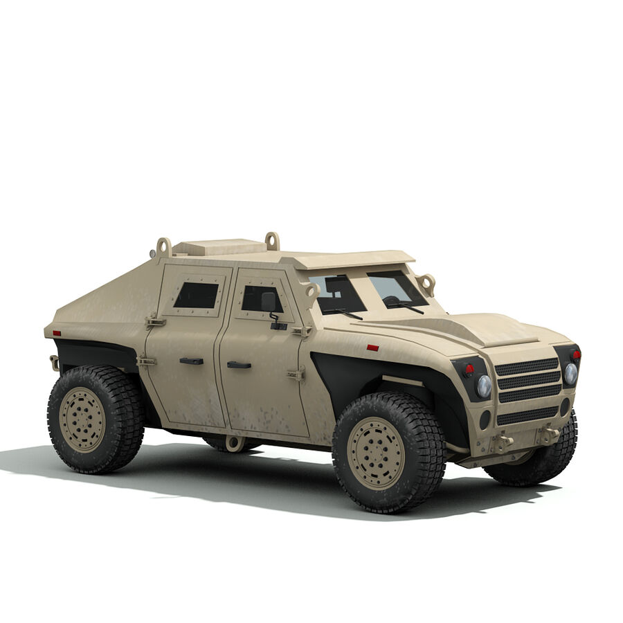 FED Alpha Armored Vehicle royalty-free 3d model - Preview no. 12