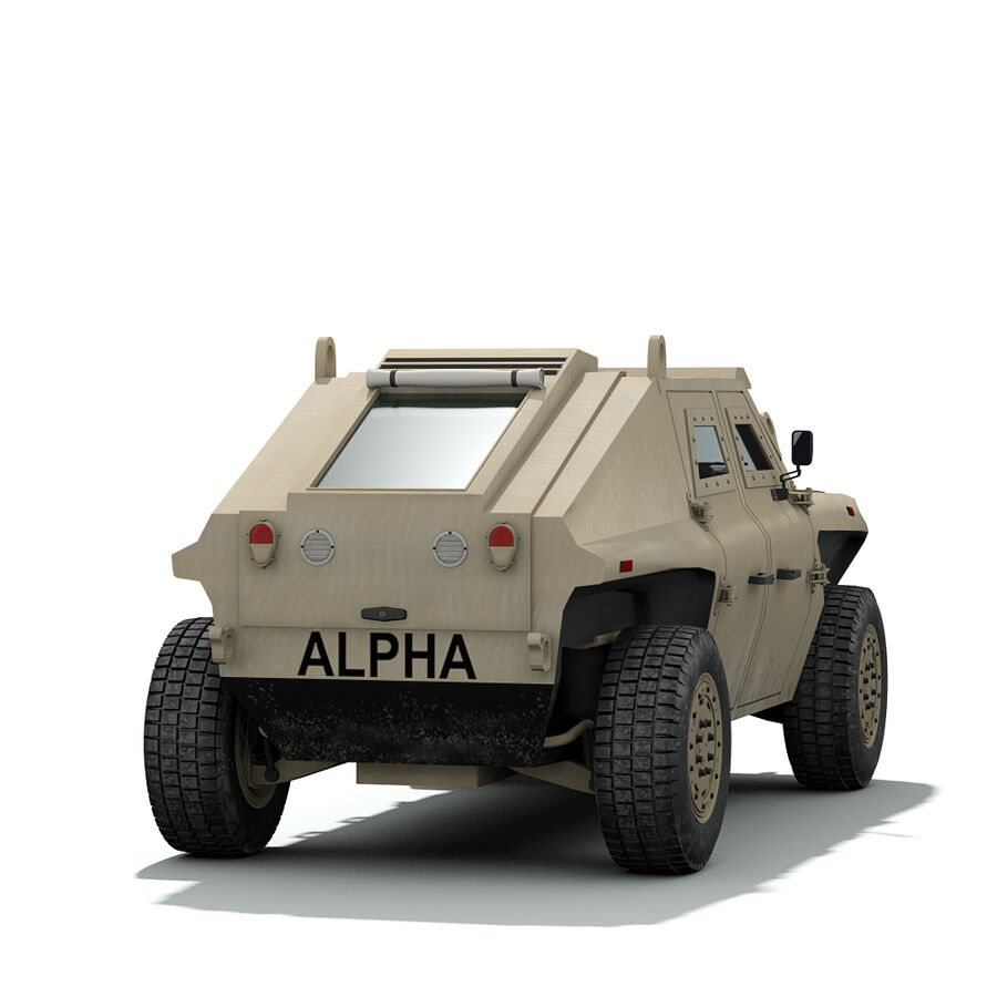 FED Alpha Armored Vehicle royalty-free 3d model - Preview no. 3