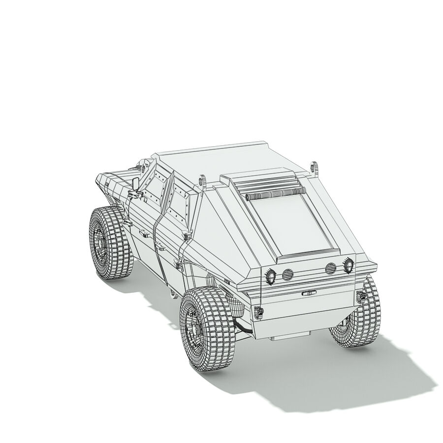 FED Alpha Armored Vehicle royalty-free 3d model - Preview no. 15