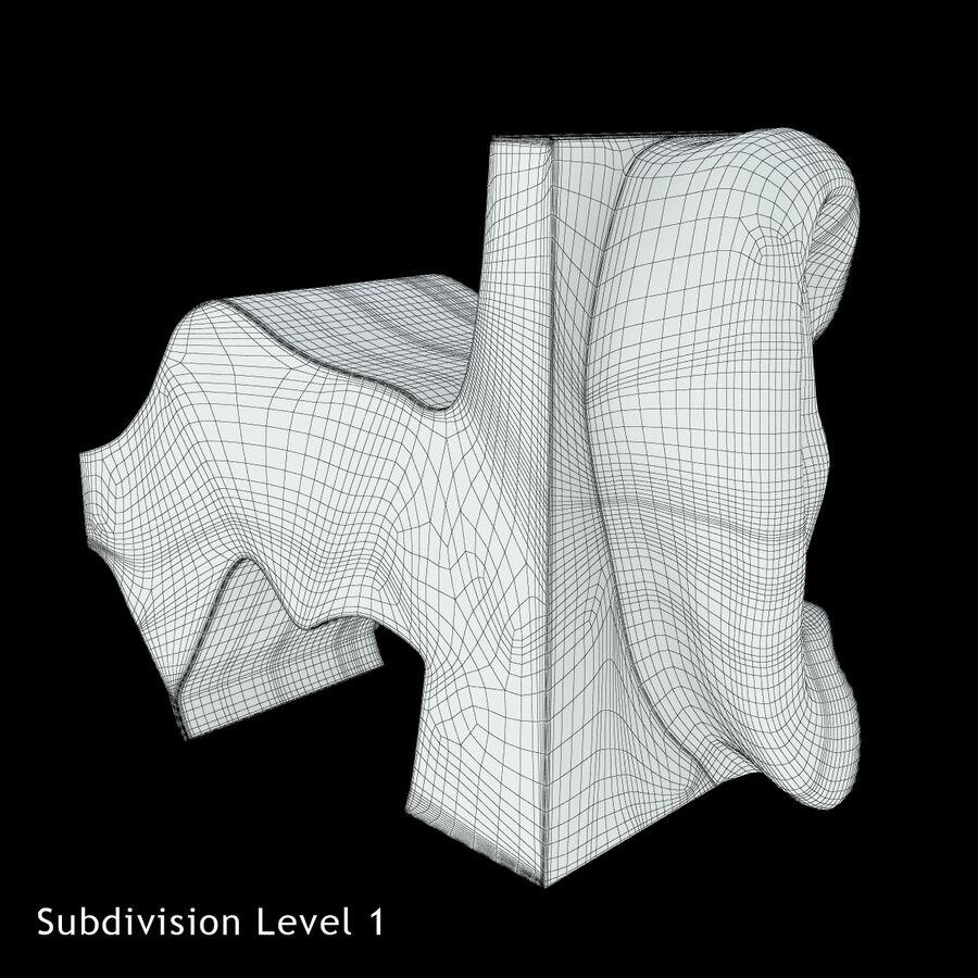 Anatomie van het oor royalty-free 3d model - Preview no. 20