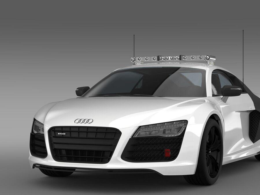 Audi R8 V10plus Safety Car royalty-free 3d model - Preview no. 14