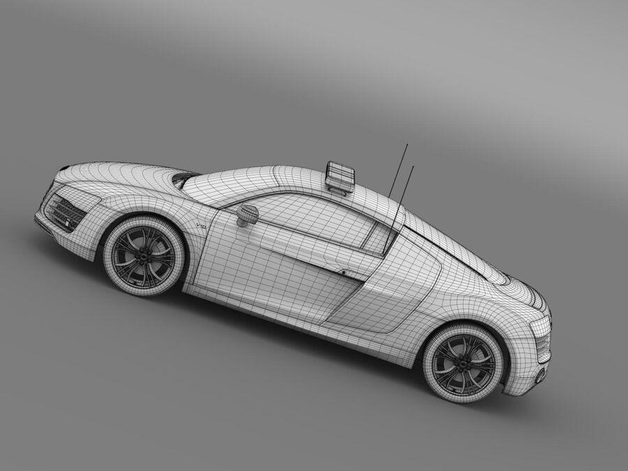 Audi R8 V10plus Safety Car royalty-free 3d model - Preview no. 17