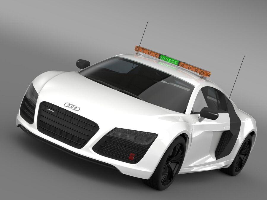 Audi R8 V10plus Safety Car royalty-free 3d model - Preview no. 1