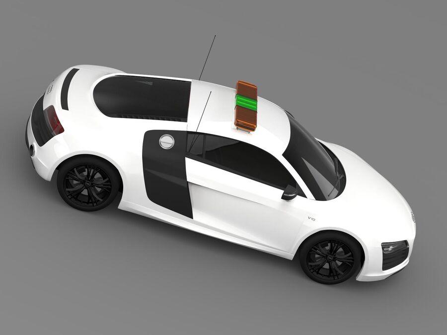 Audi R8 V10plus Safety Car royalty-free 3d model - Preview no. 11