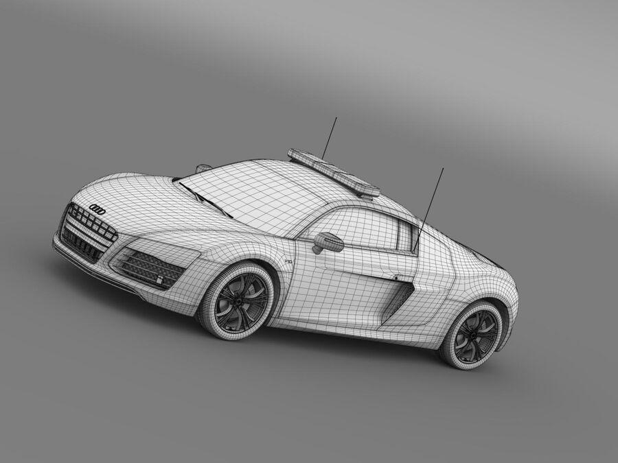 Audi R8 V10plus Safety Car royalty-free 3d model - Preview no. 16