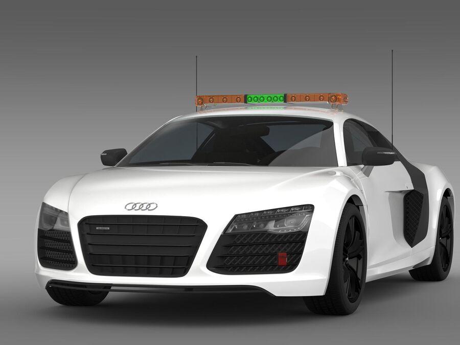 Audi R8 V10plus Safety Car royalty-free 3d model - Preview no. 3