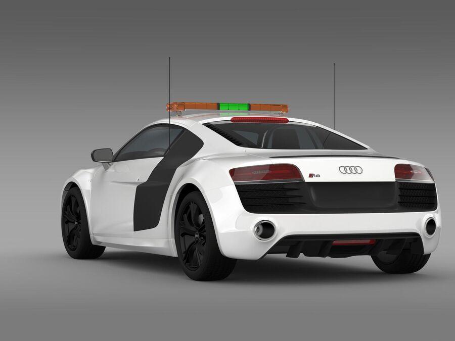 Audi R8 V10plus Safety Car royalty-free 3d model - Preview no. 8