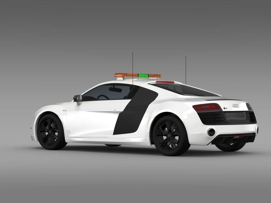Audi R8 V10plus Safety Car royalty-free 3d model - Preview no. 7