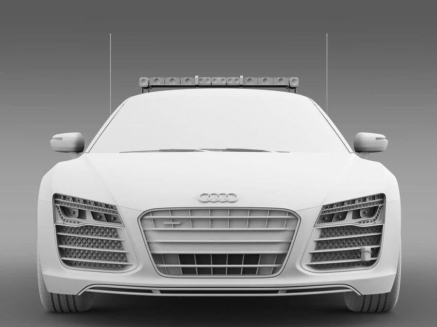 Audi R8 V10plus Safety Car royalty-free 3d model - Preview no. 12