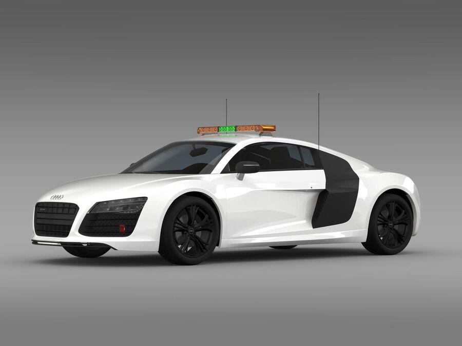 Audi R8 V10plus Safety Car royalty-free 3d model - Preview no. 5