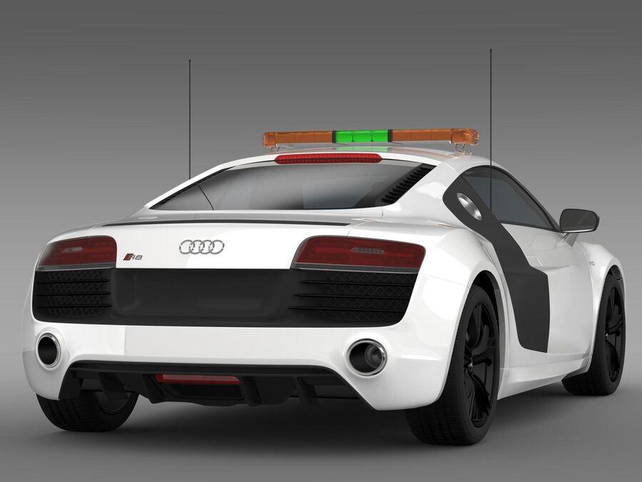 Audi R8 V10plus Safety Car royalty-free 3d model - Preview no. 9