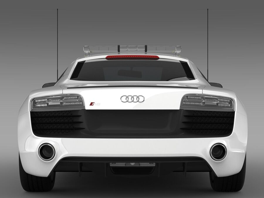 Audi R8 V10plus Safety Car royalty-free 3d model - Preview no. 13
