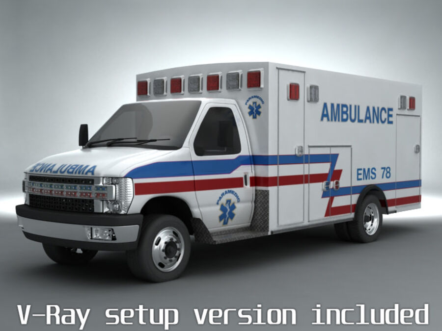 Emergency Ambulance Vol7 truck 3in1 royalty-free 3d model - Preview no. 2