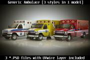 Emergency Ambulance Vol7 truck 3in1 3d model