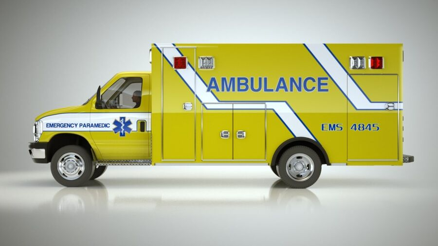 Emergency Ambulance Vol7 truck 3in1 royalty-free 3d model - Preview no. 13