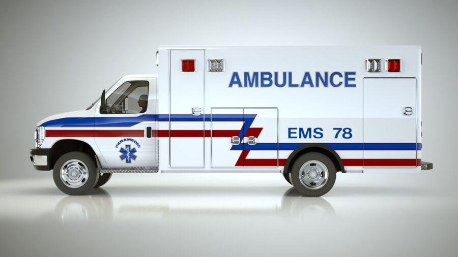 Emergency Ambulance Vol7 truck 3in1 royalty-free 3d model - Preview no. 15