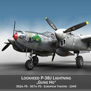 록히드 P-38 라이트닝-Gung Ho 3d model