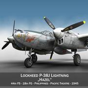 록히드 P-38 라이트닝-헤이즐 3d model