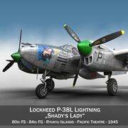 록히드 P-38 라이트닝-Shadys Lady 3d model