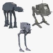 Collection de marcheurs Star Wars 3d model